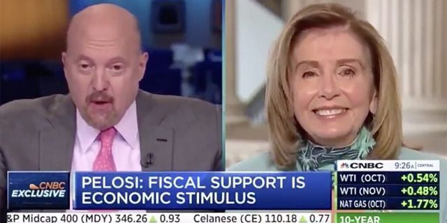 "CNBC host Jim Cramer shocked viewers on Tuesday morning when he called House Speaker Nancy Pelosi ""Crazy Nancy"" to her face during a live interview."