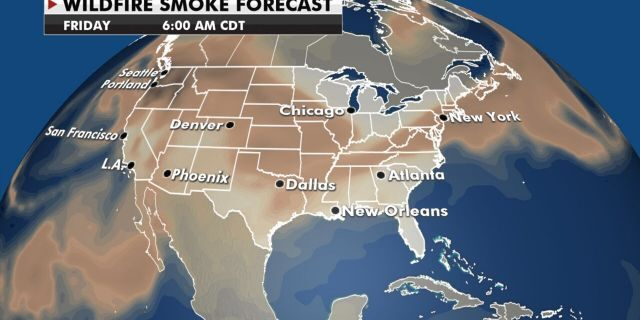 Smoke from the ongoing wildfires in the West will continue to drift eastward.