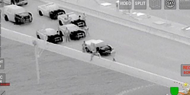 Ackerman and a second deputy made their way behind the driver and pulled him down while he was speaking to Jones.