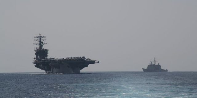 U.S.S Nimitz enters Persian Gulf Friday along with guided-missile cruisers Princeton and Philippine Sea, destroyer Sterett: Navy