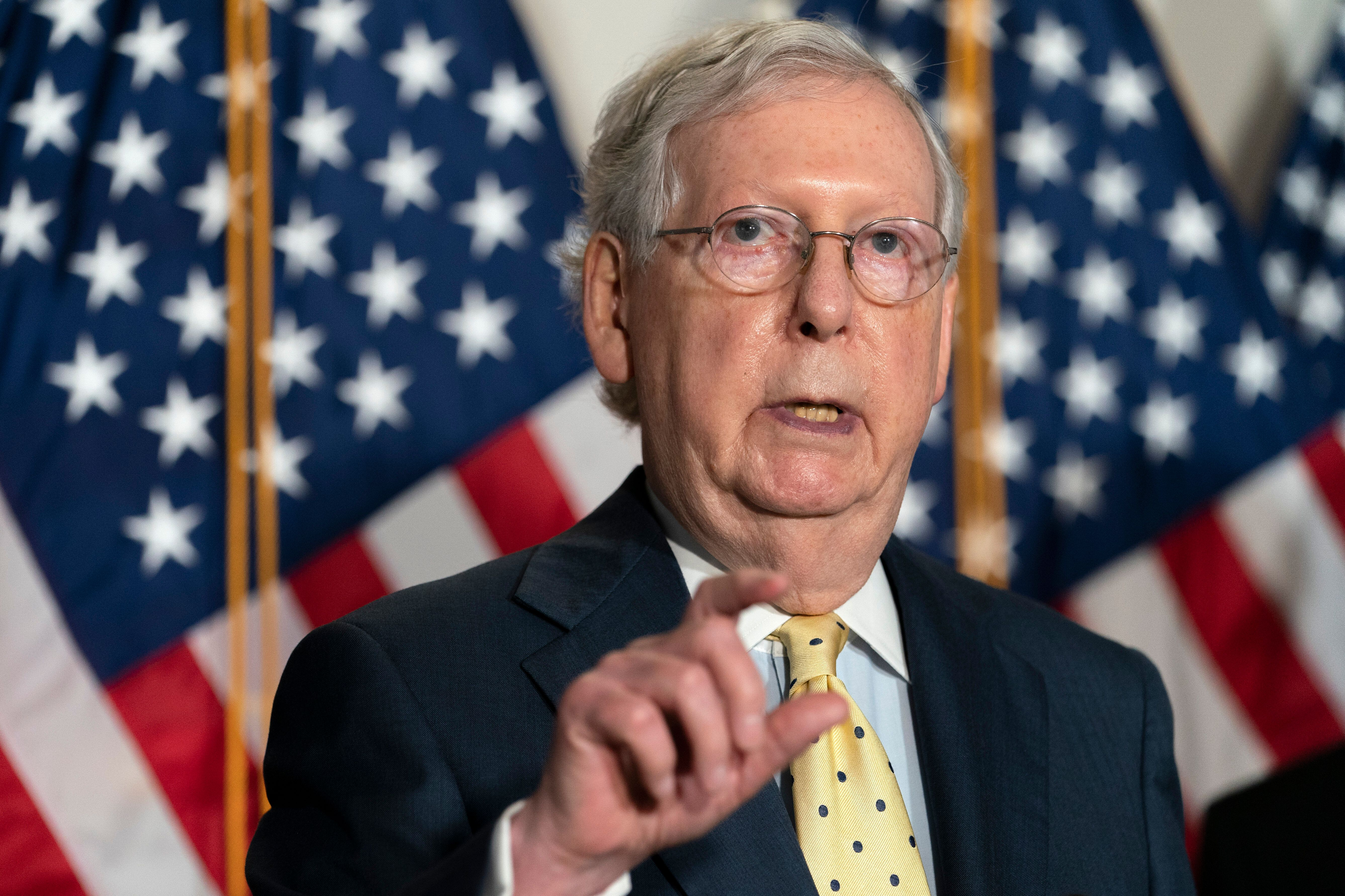 Senate Majority Leader Mitch McConnell (R-Ky.) vowed to give President Donald Trump's Supreme Court nominee a vote, even thou