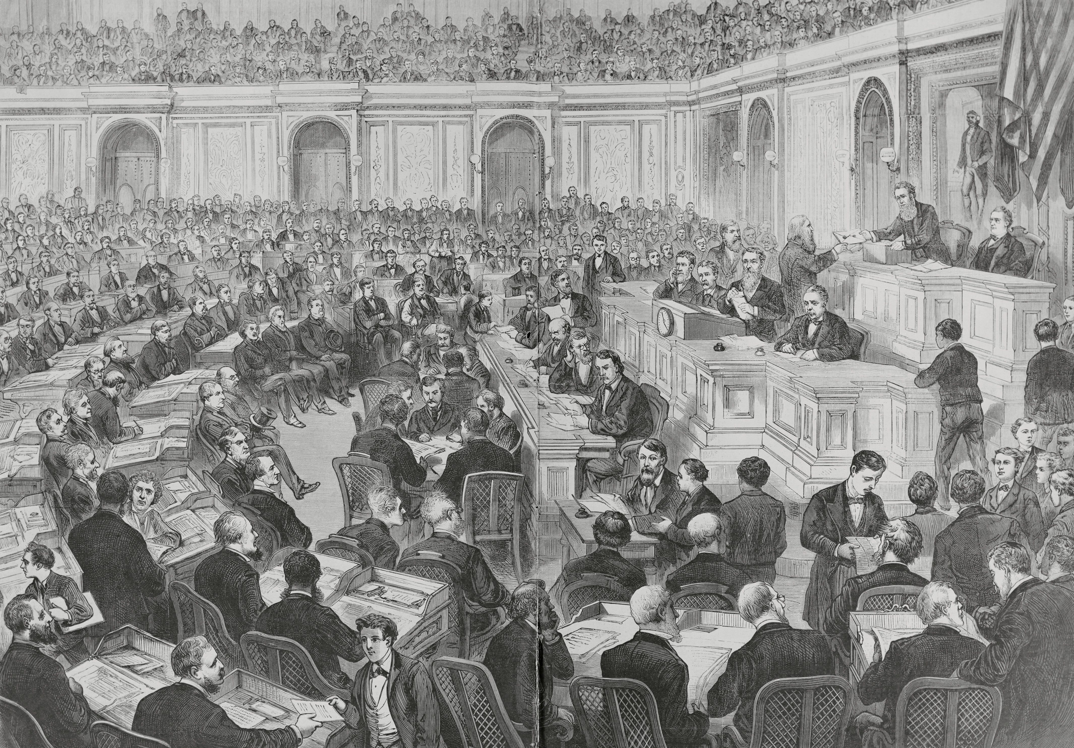 In the controversial presidential election, the outcomes in four states were in dispute, creating a stalemate that took weeks