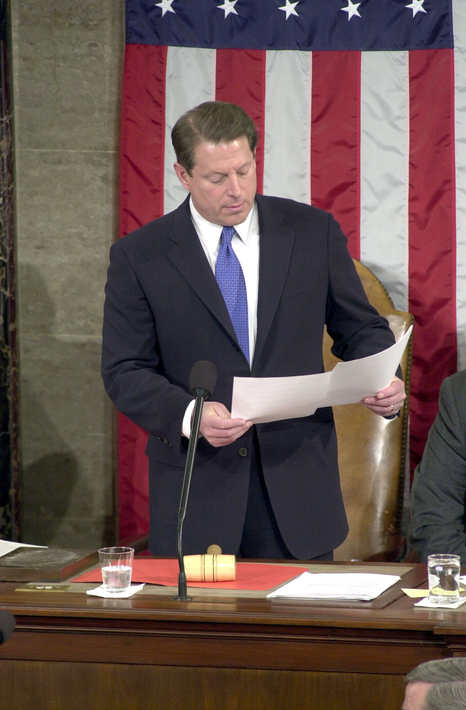 Then-Vice President Al Gore was put in the uncomfortable position of certifying before Congress in early January of 2001 that