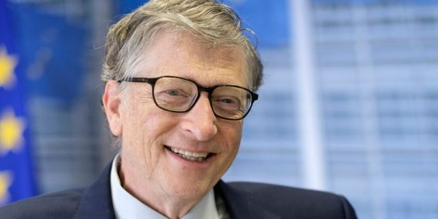 "Co-Founder of Microsoft Bill Gates answered questions during an interview on at the EU Commission Headquarters in Brussels, Belgium in 2018. Gates said on ""Fox News Sunday"" that (Photo by Thierry Monasse/Getty Images)"