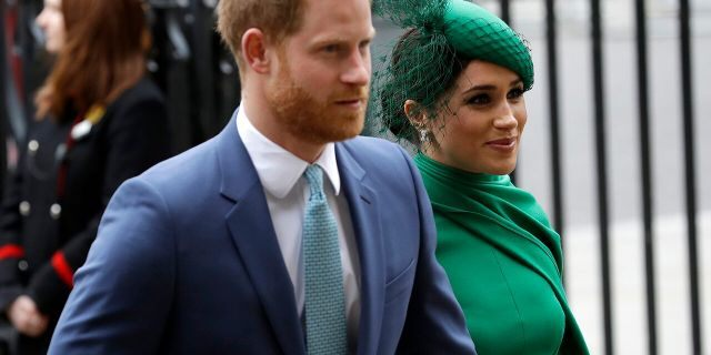 Britain's Harry and Meghan, the Duke and Duchess of Sussex, arrive to attend the annual Commonwealth Day service at Westminster Abbey in London. Prince Harry has repaid 2.4 million pounds ($3.2 million) in British taxpayers' money that was used to renovate the home intended for him and his wife, Meghan, before they gave up royal duties. A spokesman on Monday, Sept. 7, 2020, said Harry has made a contribution to the Sovereign Grant, the public money that goes to the royal family.
