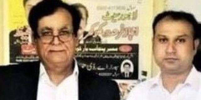 Attorney Saif Malook and his client Asif Pervaiz, who was sentenced to death in Pakistan this month after the country's draconian blasphemy laws