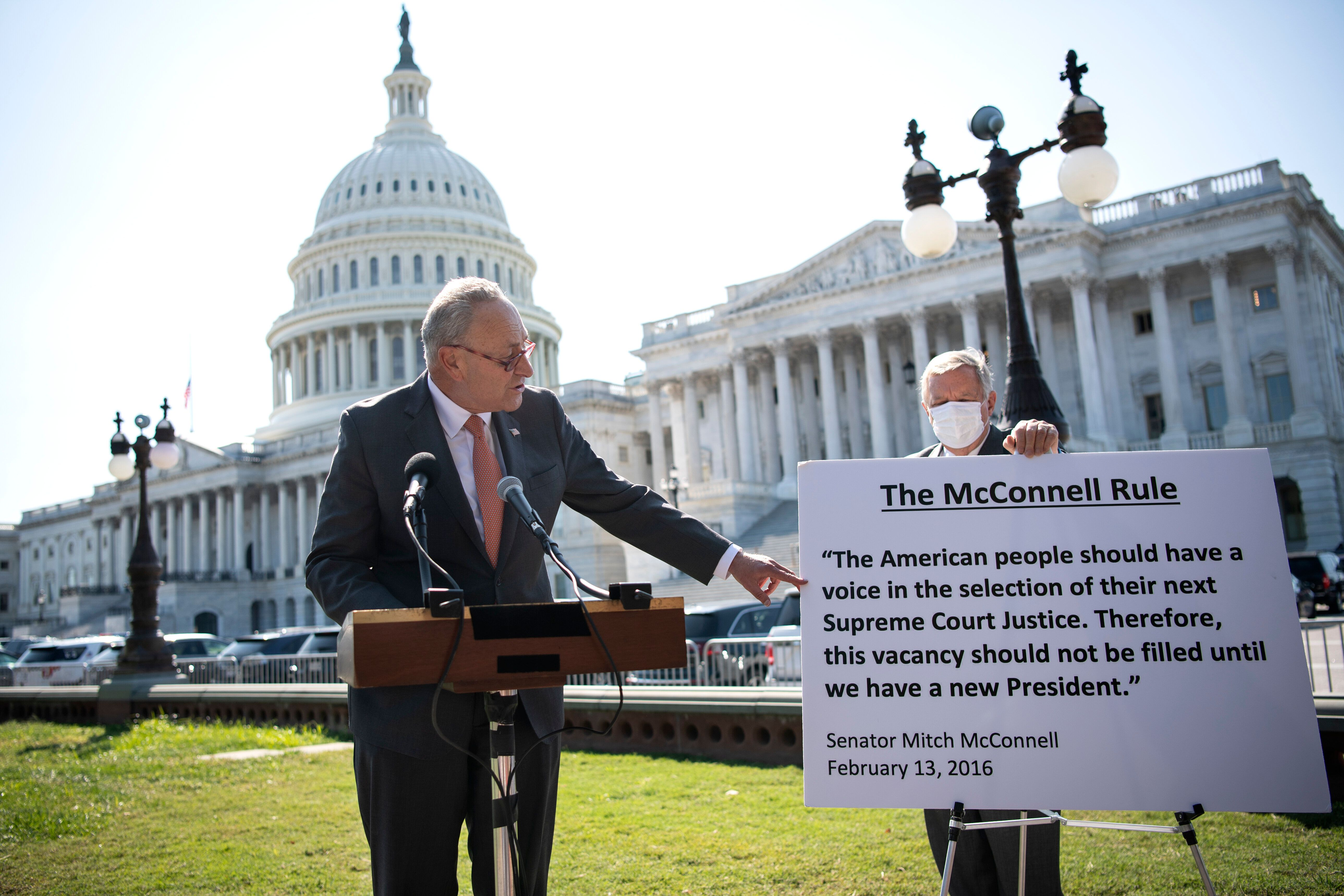 Senate Minority Leader Chuck Schumer (D-NY) has been pressing the case that Republicans are guilty of the rankest hypocrisy b