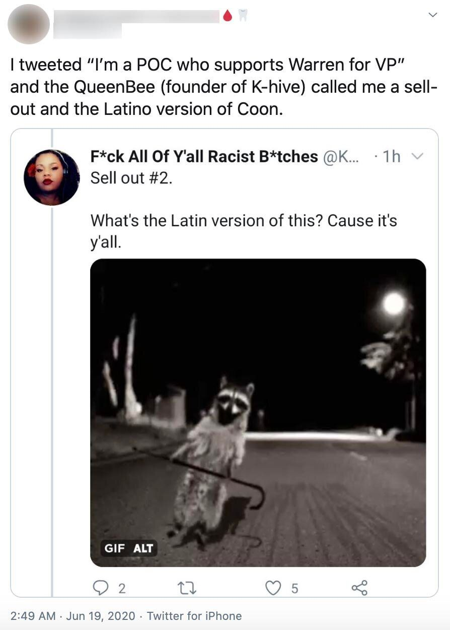 "Delarosa tweeted an image of a raccoon with the caption: ""What's the Latin version of this? Cause it's y&rs"