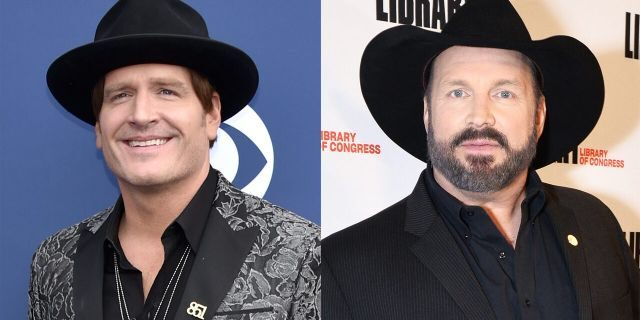 Jerrod Niemann (left) was flown to New York by Garth Brooks to spend time together after the pair co-wrote a song.