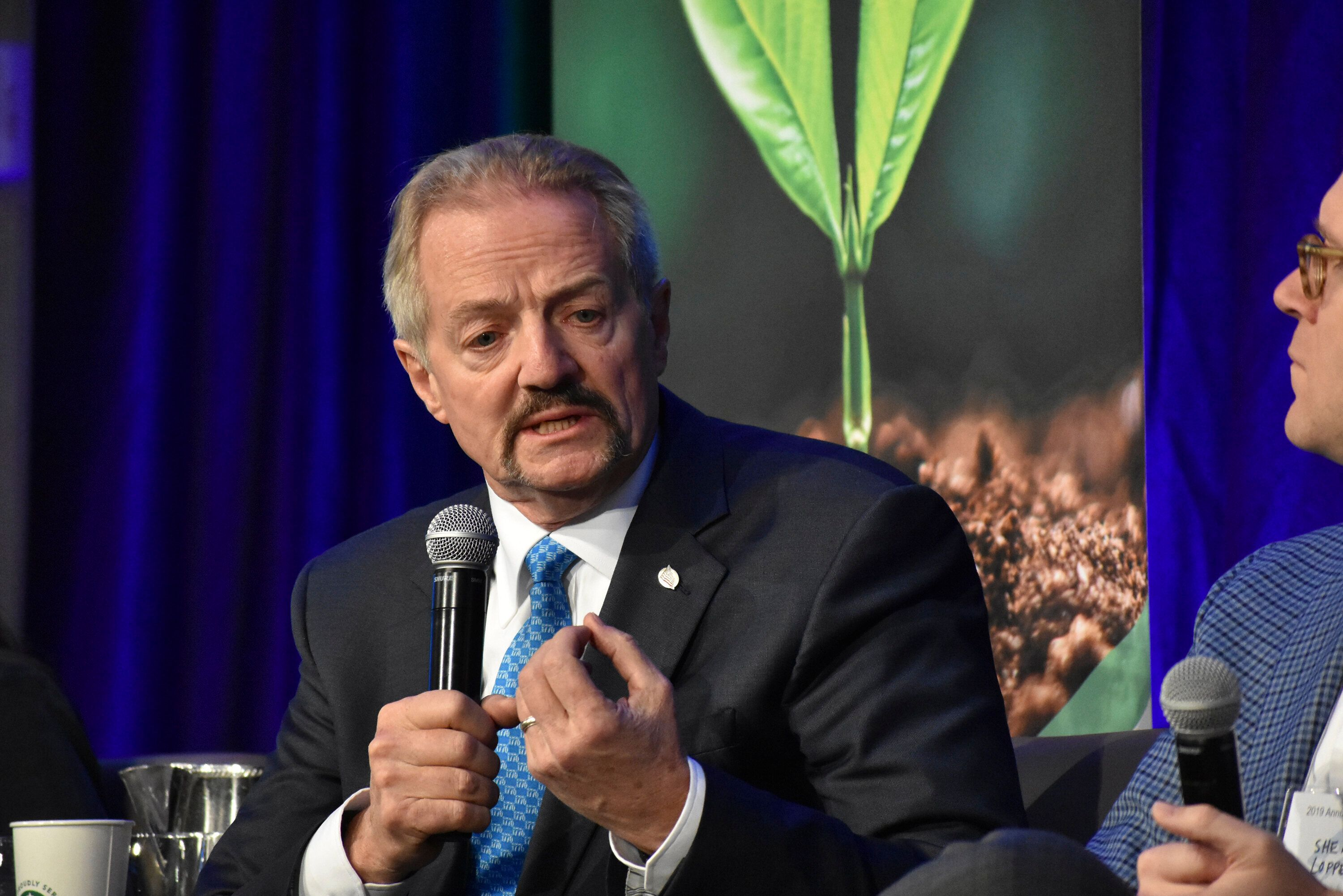 U.S. Bureau of Land Management Acting Director William Perry Pendley speaks at a conference in Fort Collins, Colorado, on Oct