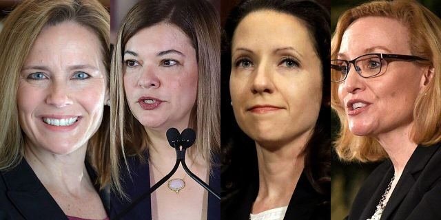 7th Circuit Court of Appeals Judge Amy Coney Barrett is widely considered to be the frontrunner for President Trump's Supreme Court pick.Other top reported contenders are11th Circuit Judge Barbara Lagoa; 4th Circuit Judge Allison Jones Rushing and 6th Circuit Judge Joan Larsen.