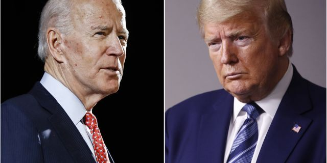 Former Vice President Joe Biden and President Trump will square off in their first presidential debate, Tuesday, Sept. 29, 2020. (AP Photo/File)