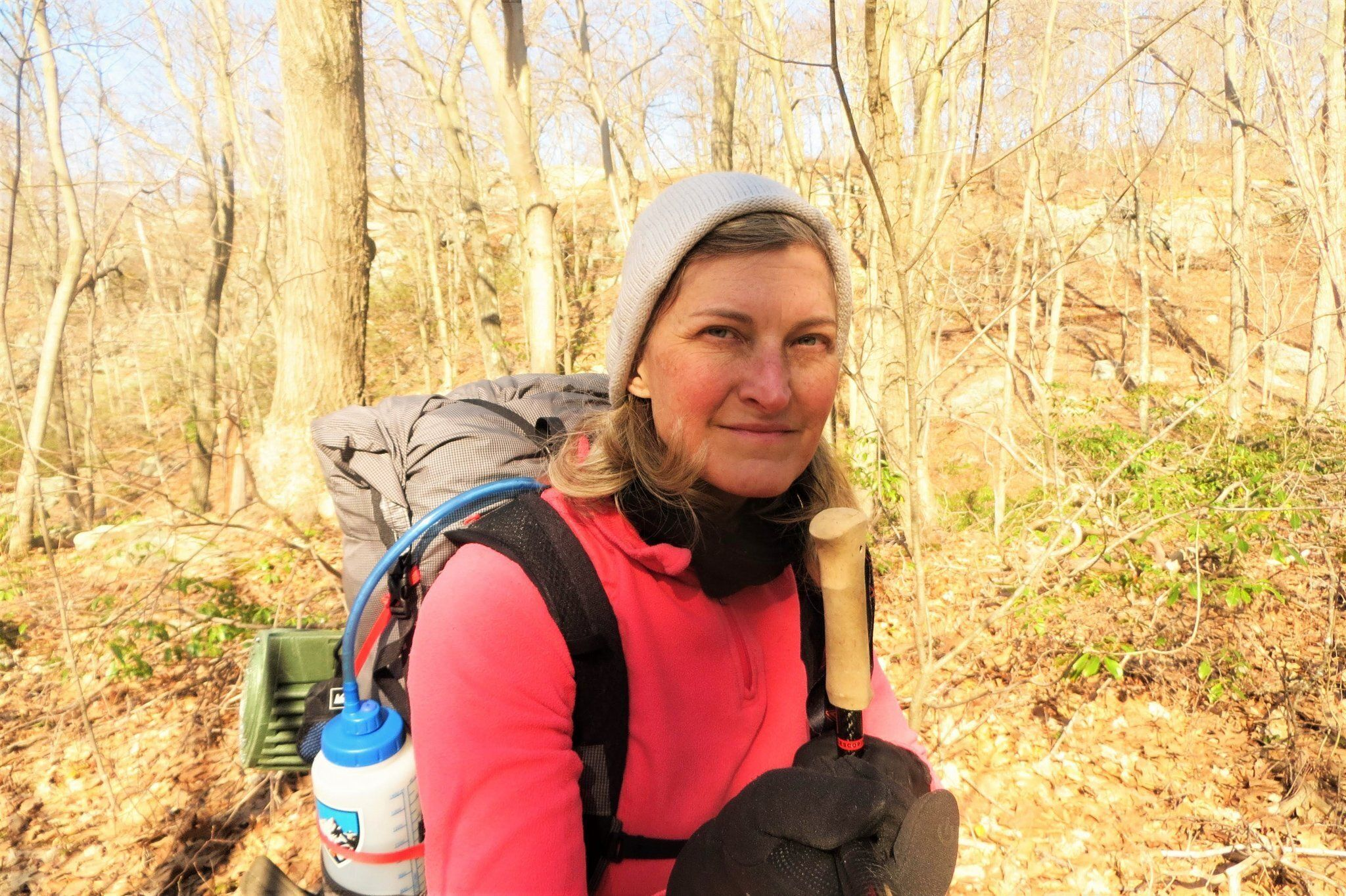 """Stephanie Joyner hiking the Appalachian Trail in New York two weeks before becoming infected with the coronavirus. It shows """""""