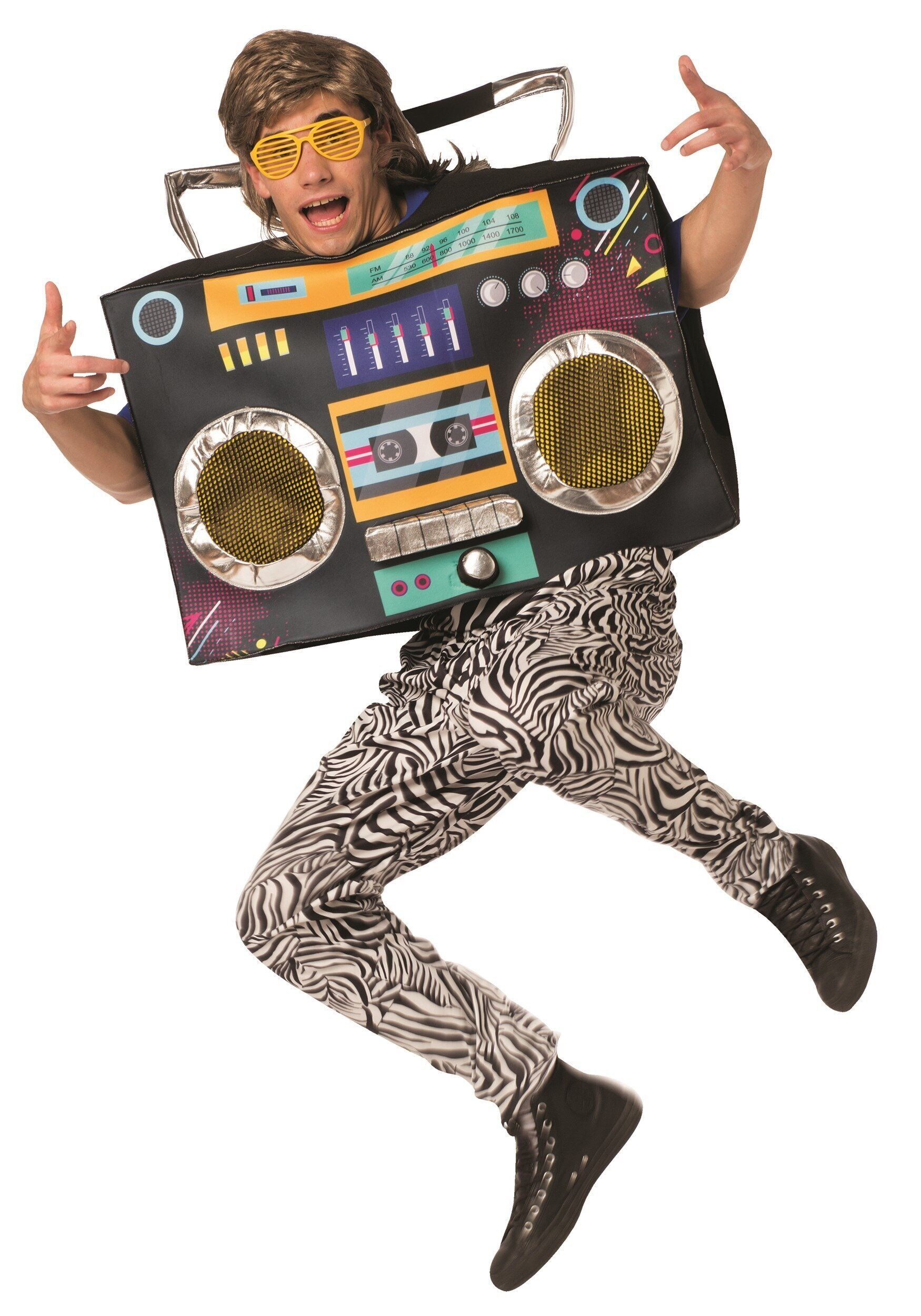 """<a href=""""https://www.halloweencostumes.com/adult-boom-box-costume.html"""" target=""""_blank"""">Dressing up as a boom box</a> could b"""