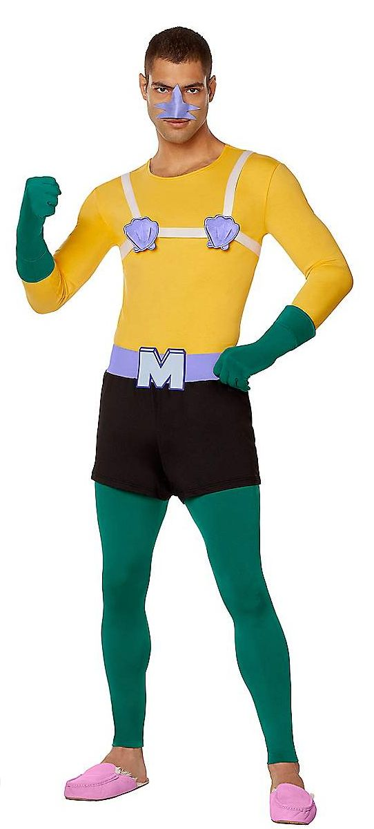 Just imagine all the great conversations this Mermaid Man costume would inspire if you were in a situation where Halloween pa