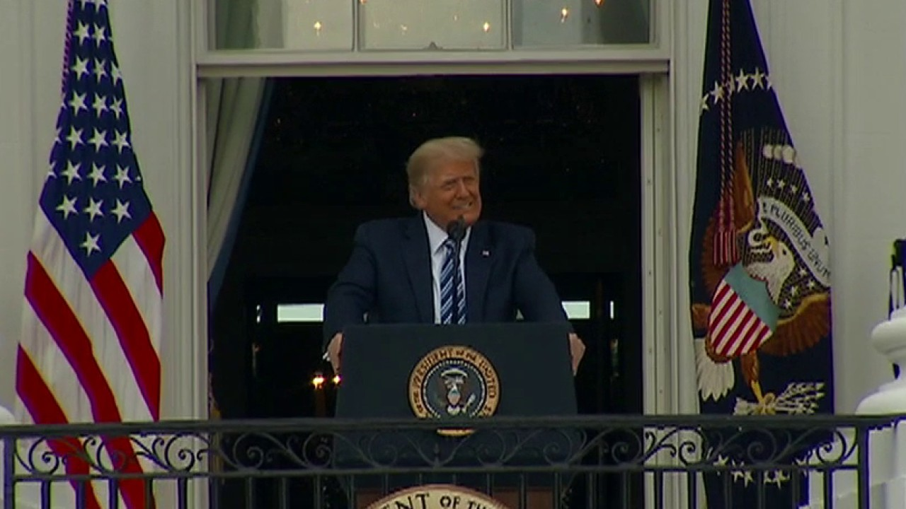President Trump holds first event since COVID-19 diagnosis