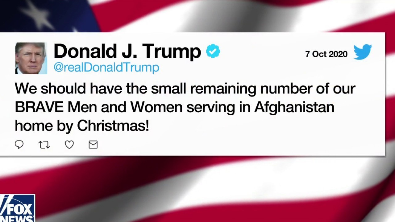 Trump tweets he will remove remaining US soldiers in Afghanistan by Christmas