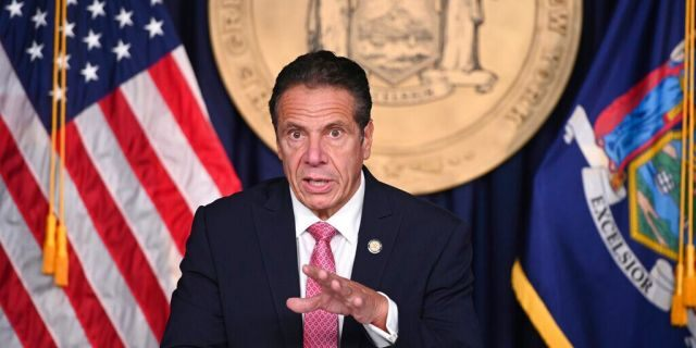 FILE: New York Governor Andrew M. Cuomo delivers a COVID-19 update during a briefing in New York City.