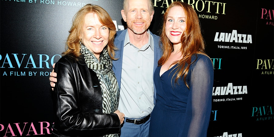 Cheryl Howard, Ron Howard and Paige Howard attend Special Red Carpet Screening Of Ron Howard's Documentary 'Pavarotti' at iPic Theater on May 28, 2019, in New York.