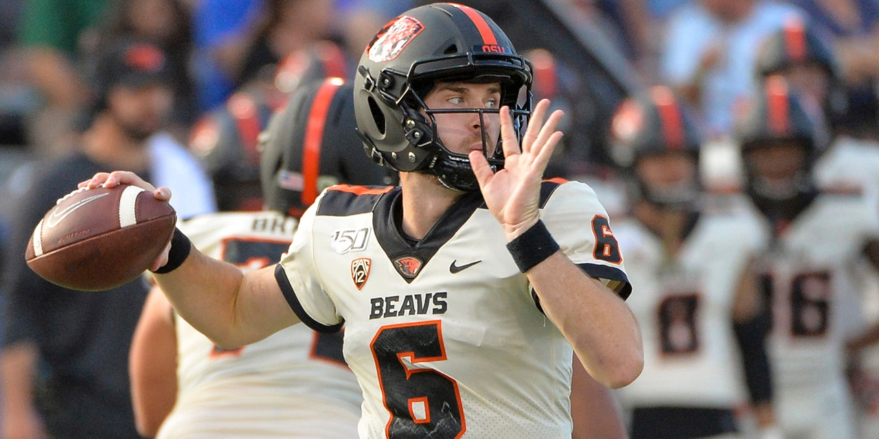 Jake Luton played college ball at Oregon State. (Casey Sapio-USA TODAY Sports)