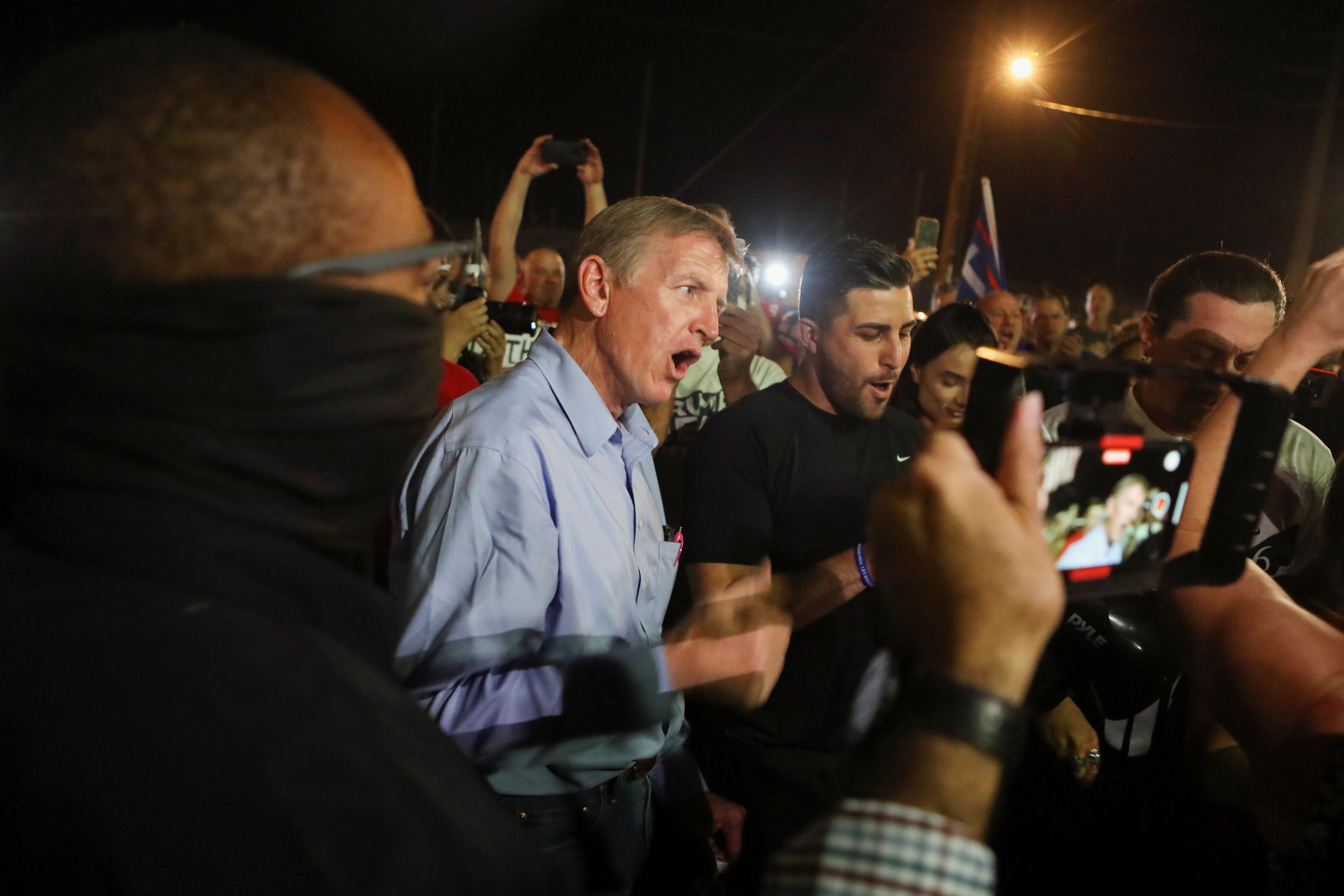 "Rep. Paul Gosar (R-Ariz.) told Trump supporters ""This is our Alamo"" as besieged election workers counted ballots in Mar"