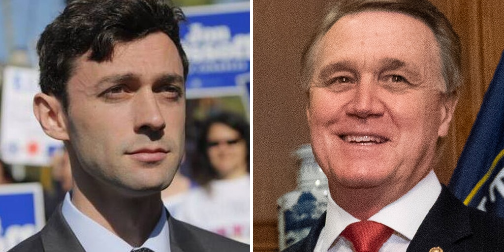 Sen. David Perdue (Right) and Jon Ossoff (Left) are in a runoff election on Jan. 5 for the incumbent Perdue's Senate seat. (AP/Facebook)