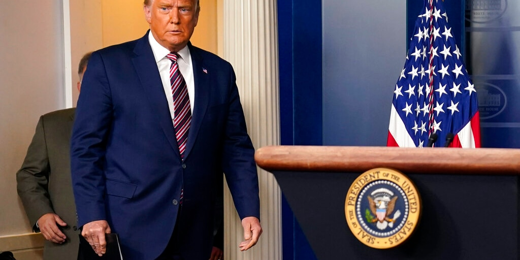 President Donald Trump arrives to speak at the White House, Thursday, Nov. 5, 2020, in Washington. Trump has still not conceded the presidential election and has made unsubstantiated claims of widespread fraud. (AP Photo/Evan Vucci)