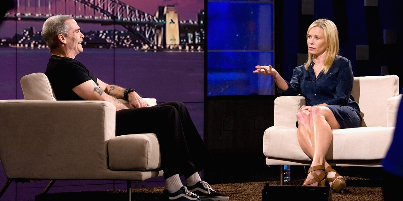Chelsea Handler interviewing Henry Rollins during a 2011 edition of 'Chelsea Lately.' (Getty Images)