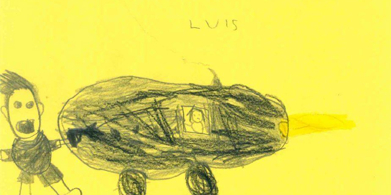 Six-year-old Luis sketched a hit-and-run accident in Hamm, Germany, for police,