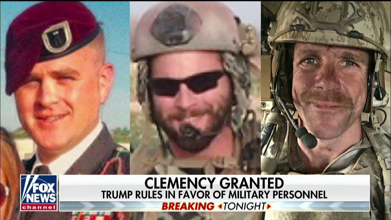 President Trump grants clemency to 2 Army officers, restores rank to Navy SEAL Eddie Gallagher