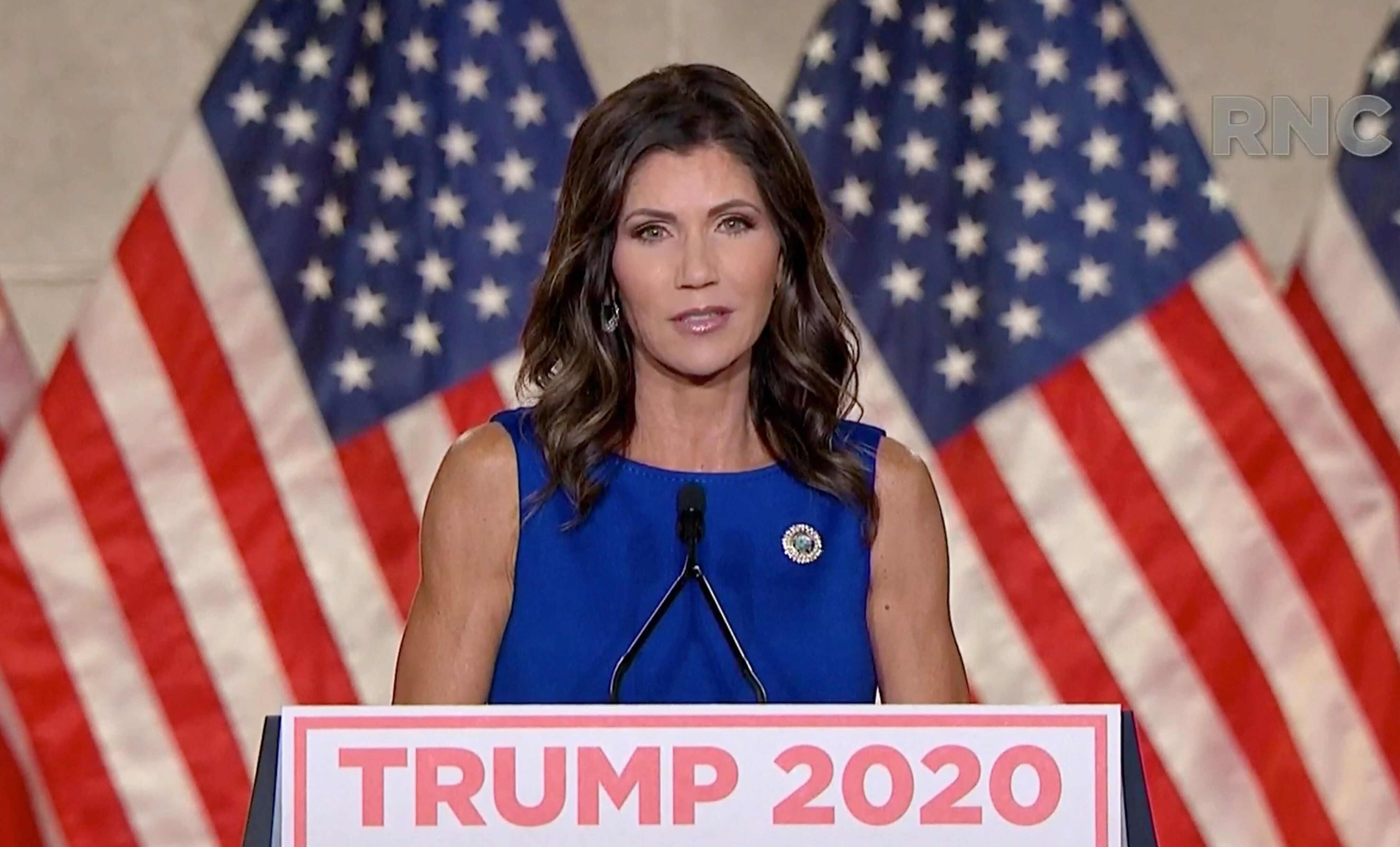 """South Dakota Gov. Kristi Noem boasted at August's Republican National Convention about her defiance of """"an elite classo"""