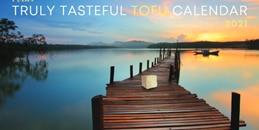 The cheeky calendar follows a little tofu block as it visits popular destinations around the world.