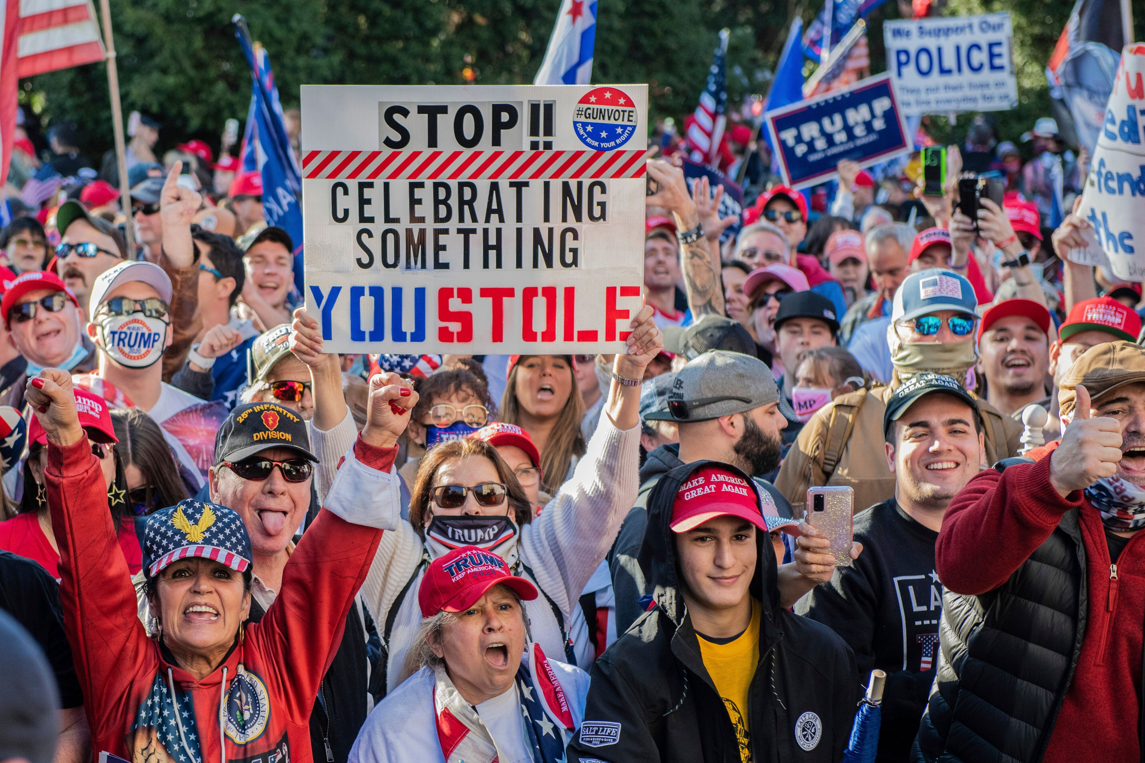 Across the country, Trump supporters are rallying against supposed voter fraud. What begins as a tweet gets amplified across