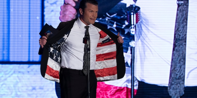 Pete Hegseth shocked fans during the 2019 Fox Nation Patriot Awards when he revealed an American flag sewn into the inside of his jacket.