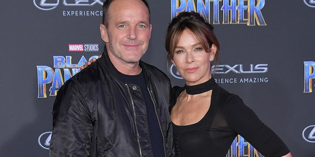 Clark Gregg and Jennifer Grey attend the premiere of Disney and Marvel's 'Black Panther' at Dolby Theatre on Jan. 29, 2018, in Hollywood, Calif.