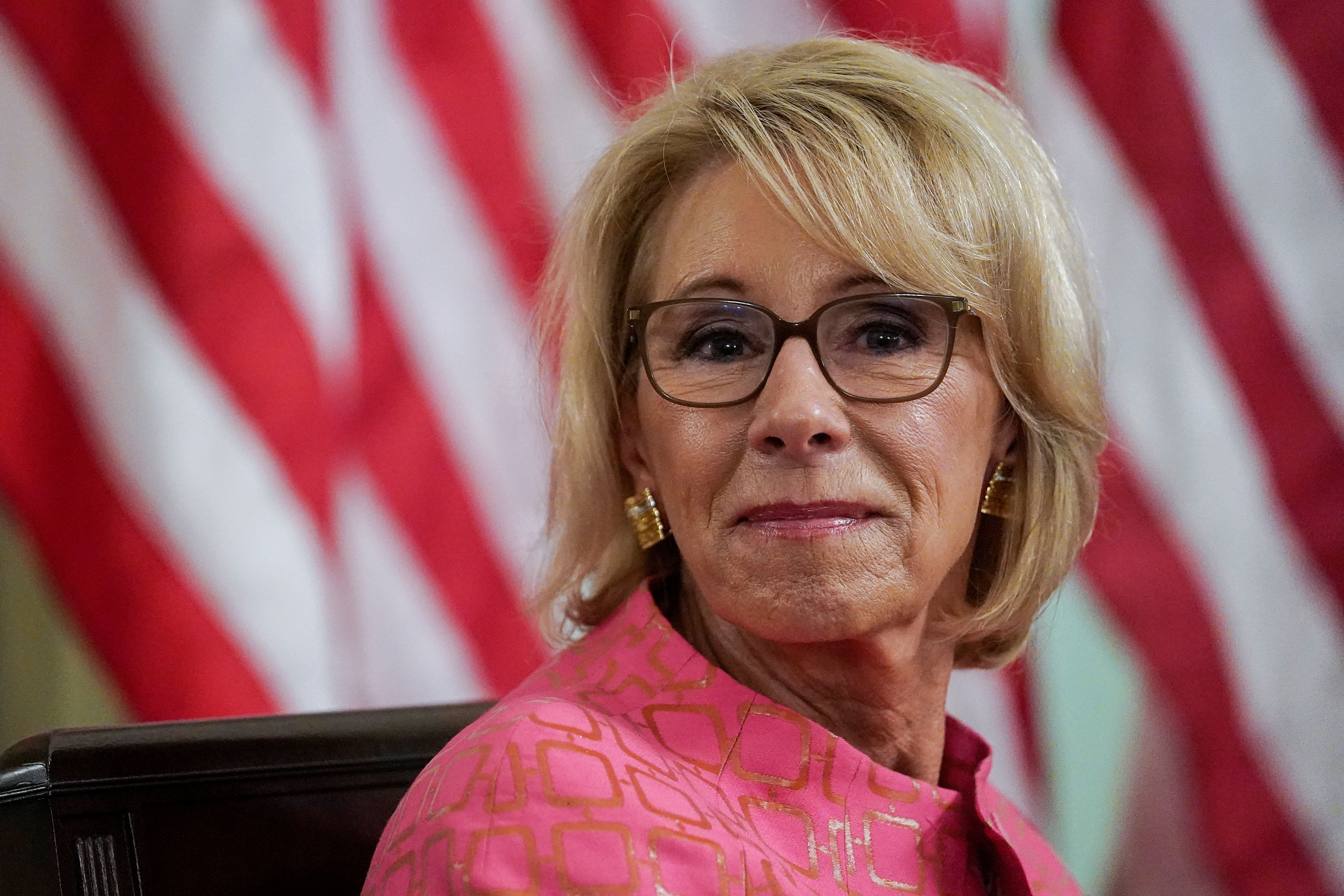 Opposition to outgoing Education Secretary Betsy DeVos has been a source of unity among education groups that are otherwise i