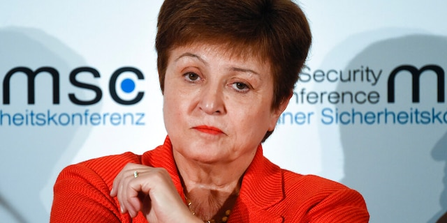 FILE: Kristalina Georgieva, Managing Director of the International Monetary Fund, attends a session on the first day of the Munich Security Conference in Munich, Germany.