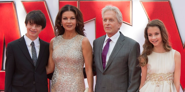 Catherine Zeta-Jones and Michael Douglas share two children: Dylan, 20, and Carys, 17. (Getty Images)