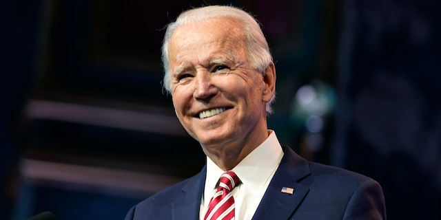 President-elect Joe Biden speaks Monday, Nov. 16, 2020, in Wilmington, Del. (Associated Press)