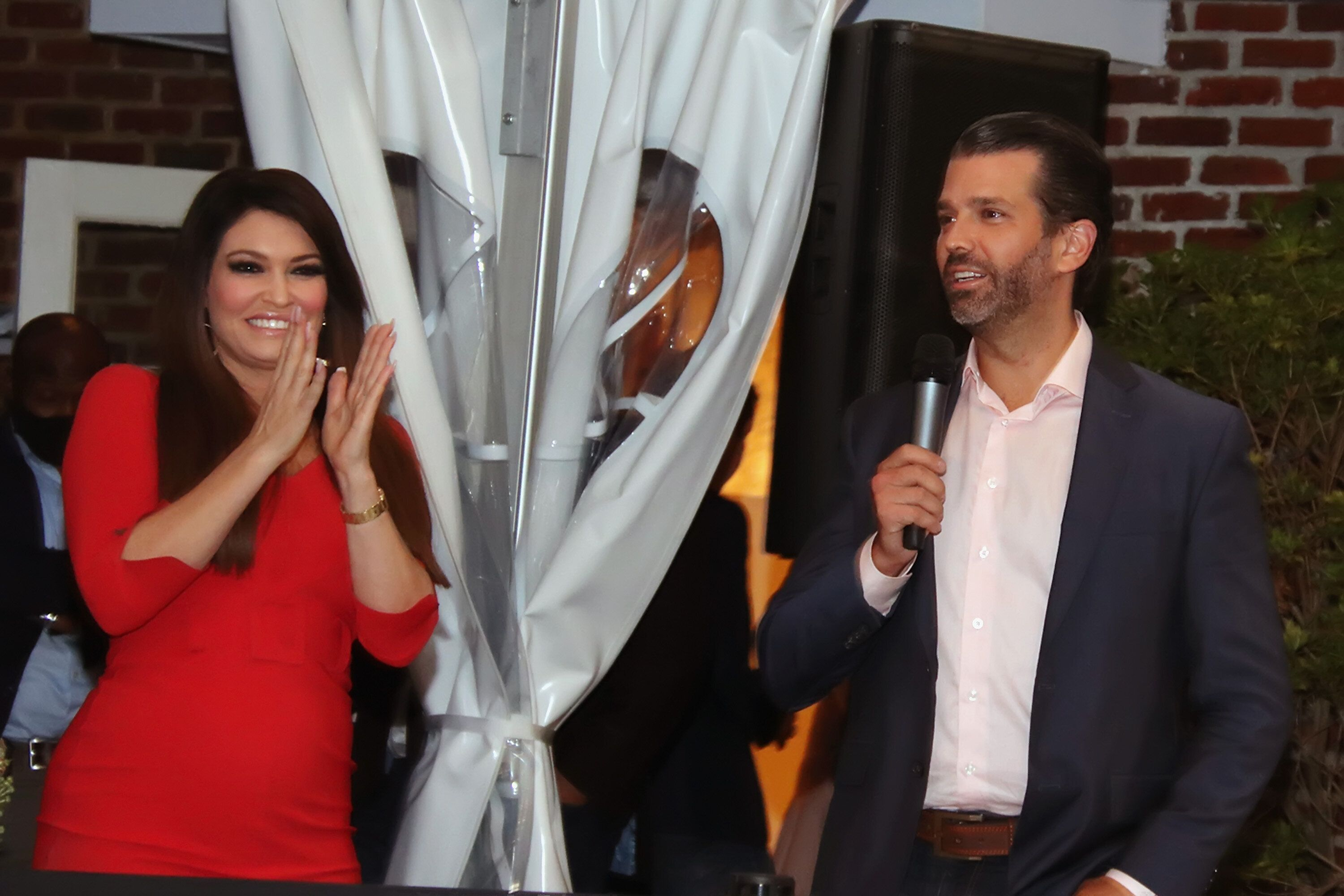Trump campaign adviser Kimberly Guilfoyle, who is also the girlfriend of Donald Trump Jr., has appeared on OAN and Newsmax to