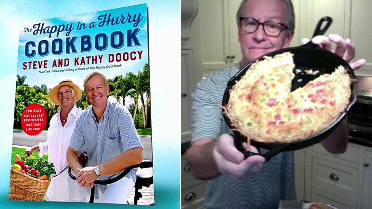 Steve and Kathy Doocy's new book 'The Happy in a Hurry Cookbook' hits store shelves
