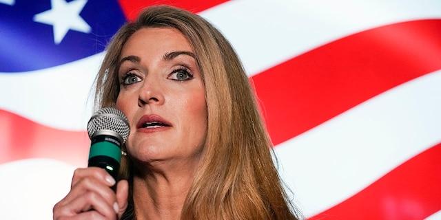 U.S. Sen. Kelly Loeffler, R-Ga., campaigns Nov. 13, 2020, in Cumming, Ga. (Associated Press)