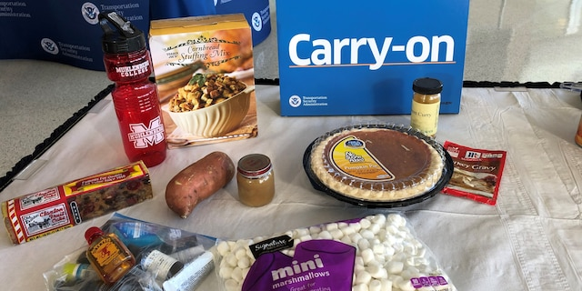 The TSA allows most solid food items and liquids under 3.4 ounces to be packed in carry-on bags. (Transportation Security Administration)