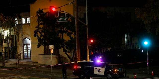 Two people died and multiple others were injured in a stabbing Sunday night at a church in California where homeless people had been brought to shelter from the cold weather, police said. (Nhat V. Meyer/Bay Area News Group via AP)