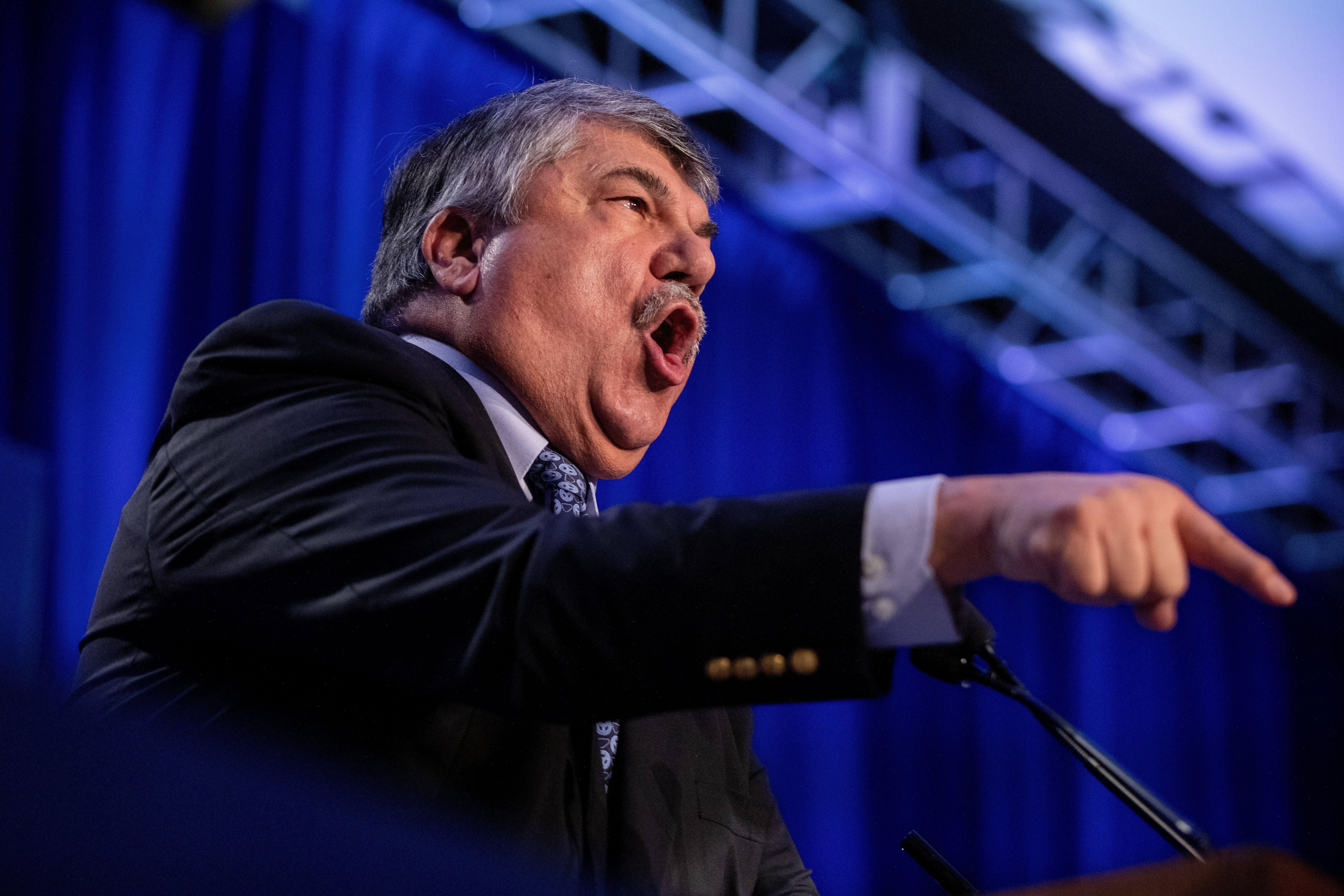 Richard Trumka, president of the AFL-CIO, speaks at a labor conference in February 2020. Avendaño believes that her an