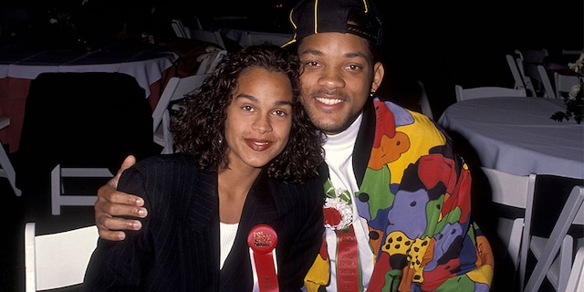 Will Smith and Sheree Zampino attend the 60th Annual Hollywood Christmas Parade on Dec. 1, 1991, at KTLA Studios in Hollywood, Calif.