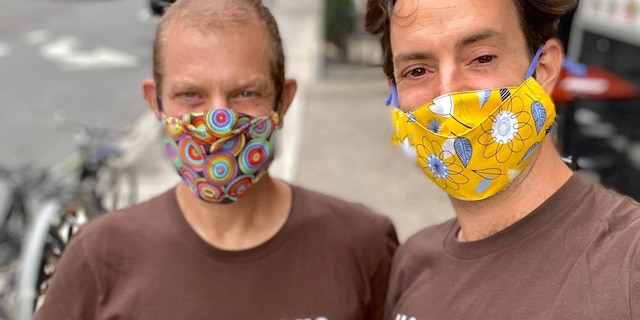 Jeffrey Newman (left) and Jayson Conner (right) run Backpacks for the Street, which has given away more than 10,000 backpacks during the pandemic. (Courtesy of Backpacks for the Street)