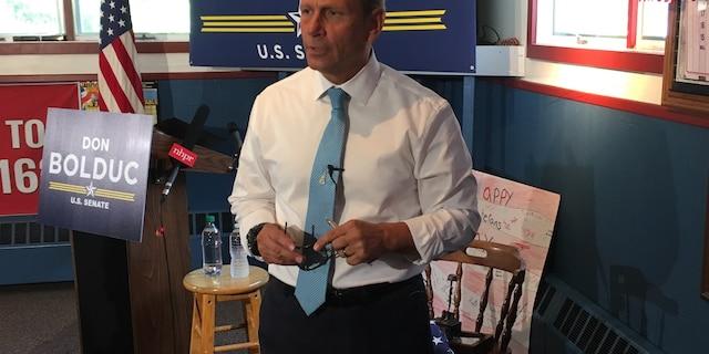 Retired Army Gen. Don Bolduc announces his 2020 run for Senate in New Hampshire, in Concord, NH. in June 2019