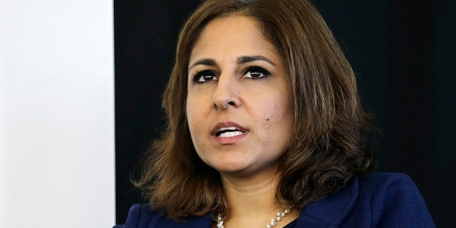 Neera Tanden, president of Center for American Progress, speaks during an introduction for New Start New Jersey at NJIT in Newark, N.J. (AP Photo/Mel Evans, File)