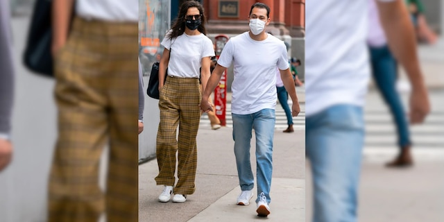 Katie Holmes and Emilio Vitolo Jr. were first linked in August.